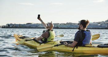 Row a tandem kayak